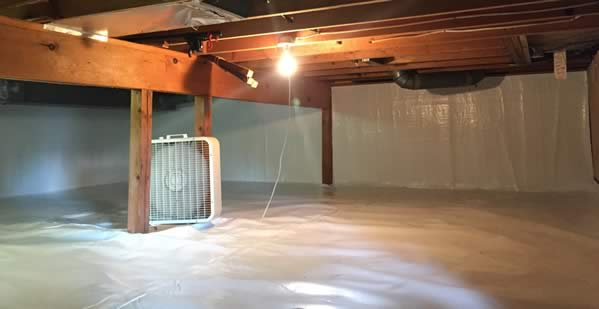 Crawl space encapsulation by BDB Waterproofing