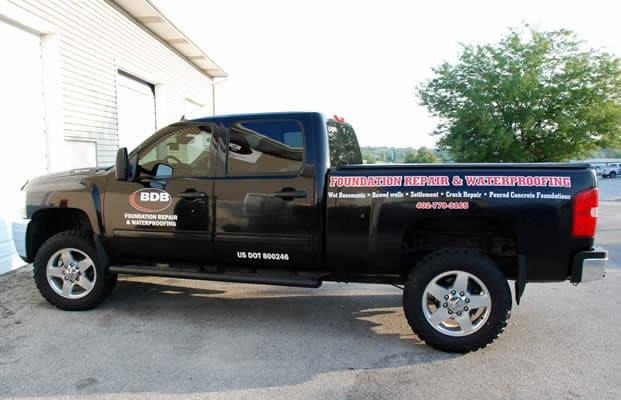 BDB Waterproofing Omaha truck