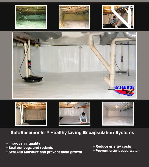 SafeBasement Healthy Living System - Crawl Space Encapsulation and crawl space pump by BDB Waterproofing