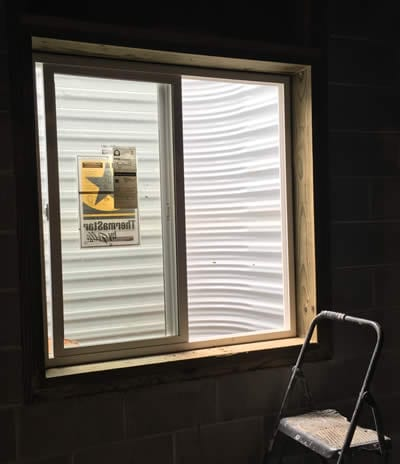 Egress window installation by BDB Waterproofing in Omaha