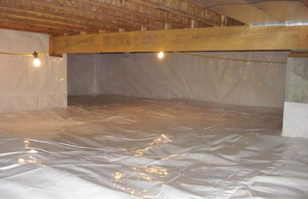 Crawl space waterproofing after BDB Waterproofing
