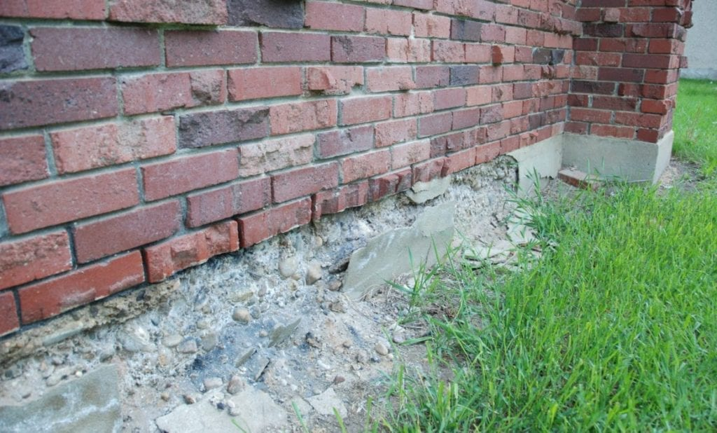 home that needs foundation repairs