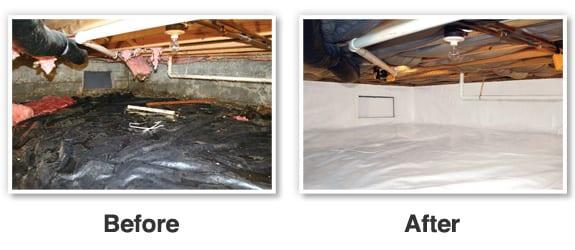 crawl space encapsulation & Crawl space repair by BDB Waterproofing